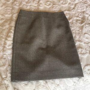 Grey Wool J. Crew Pencil Skirt